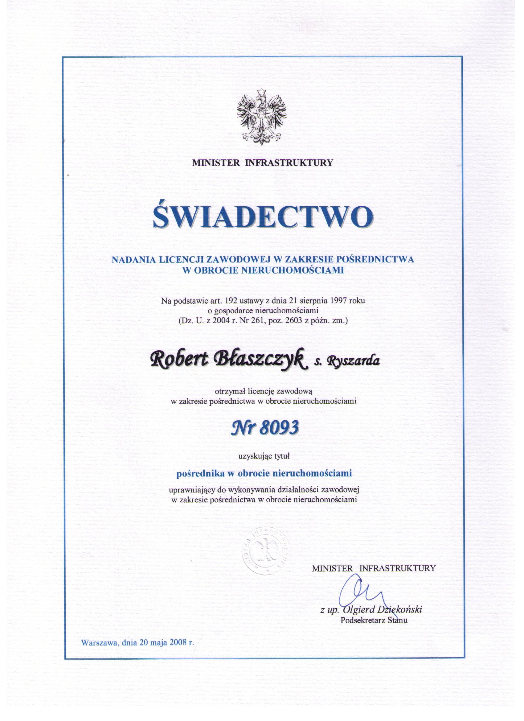 Licencja zawodowa